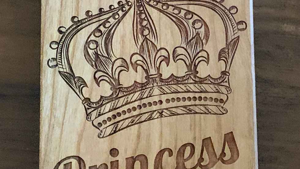 Iphone X/XS- Princess Wood Case