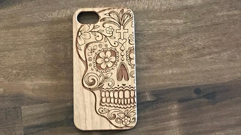Iphone 7/8 Wood Skull