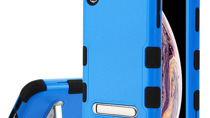 Iphone X/XS Blue Kickstand three piece tuff case