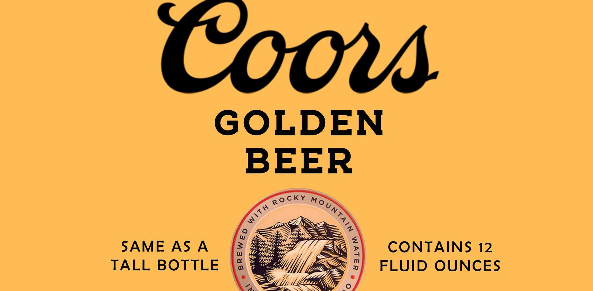Coors beer bottle label #4
