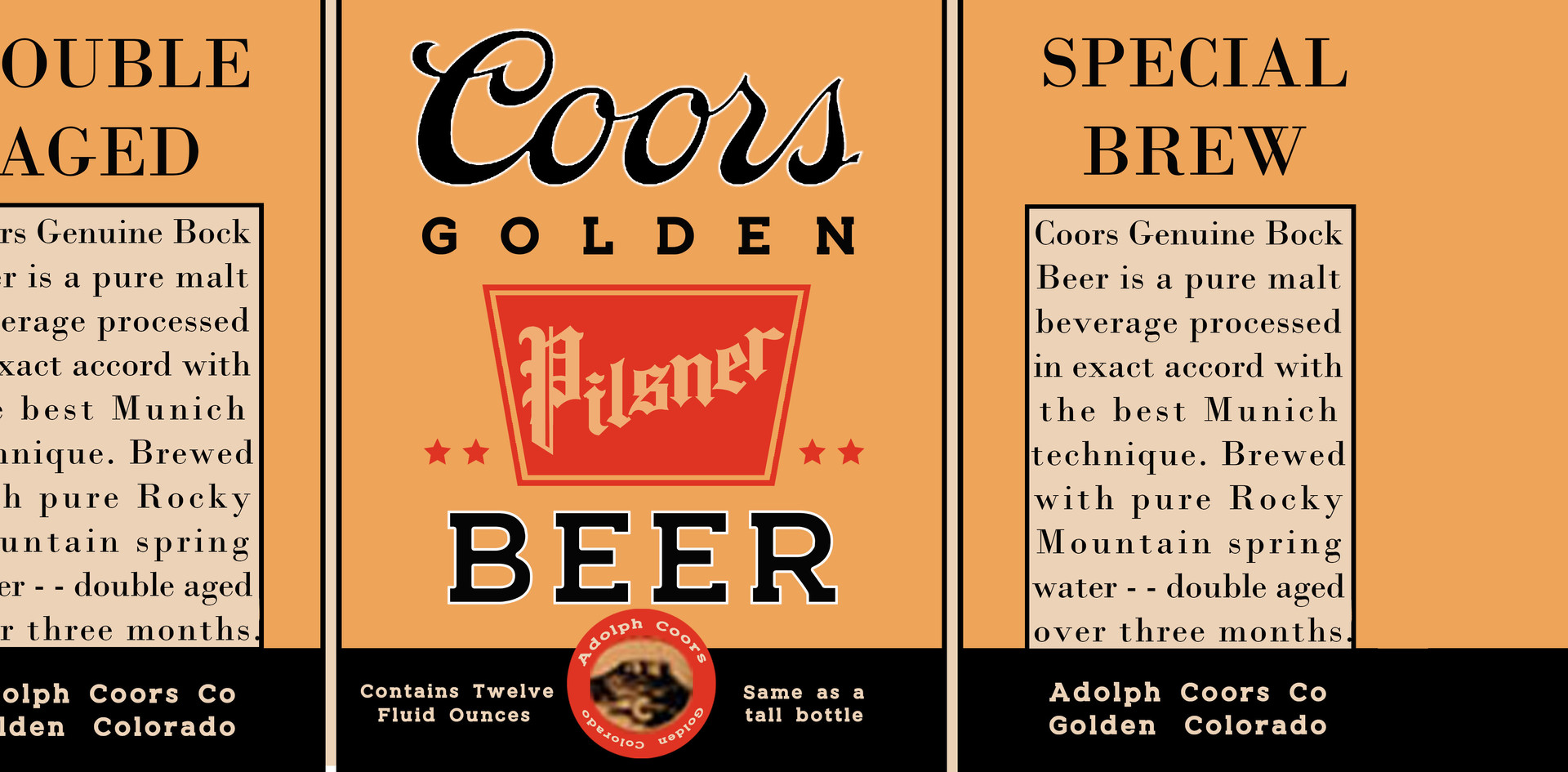 Coors beer bottle label #1