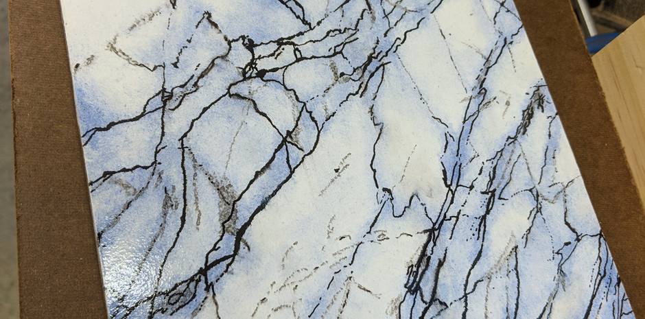 Faux Finish: Turkish Lilac Marble