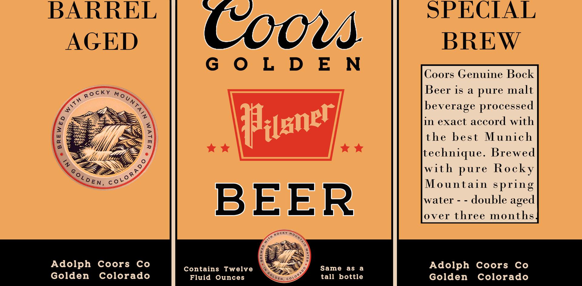 Coors beer bottle label #2