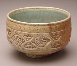 White Stoneware Tea Bowl