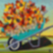 Wheelbarrow of Flowers_Christiansen_Art