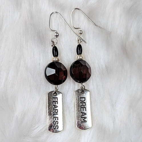 Black and Silver Fearless Dream Earrings