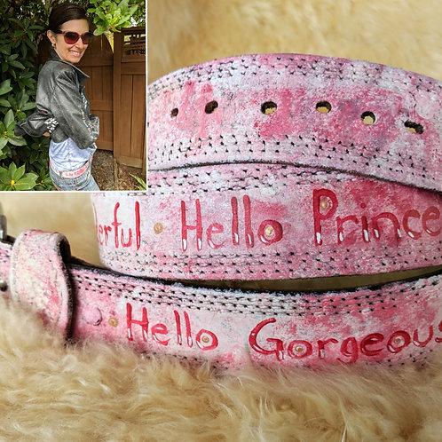 Hello Gorgeous Pink Belt