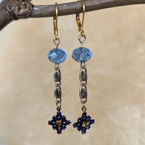 Blue Victoria Drop Earrings
