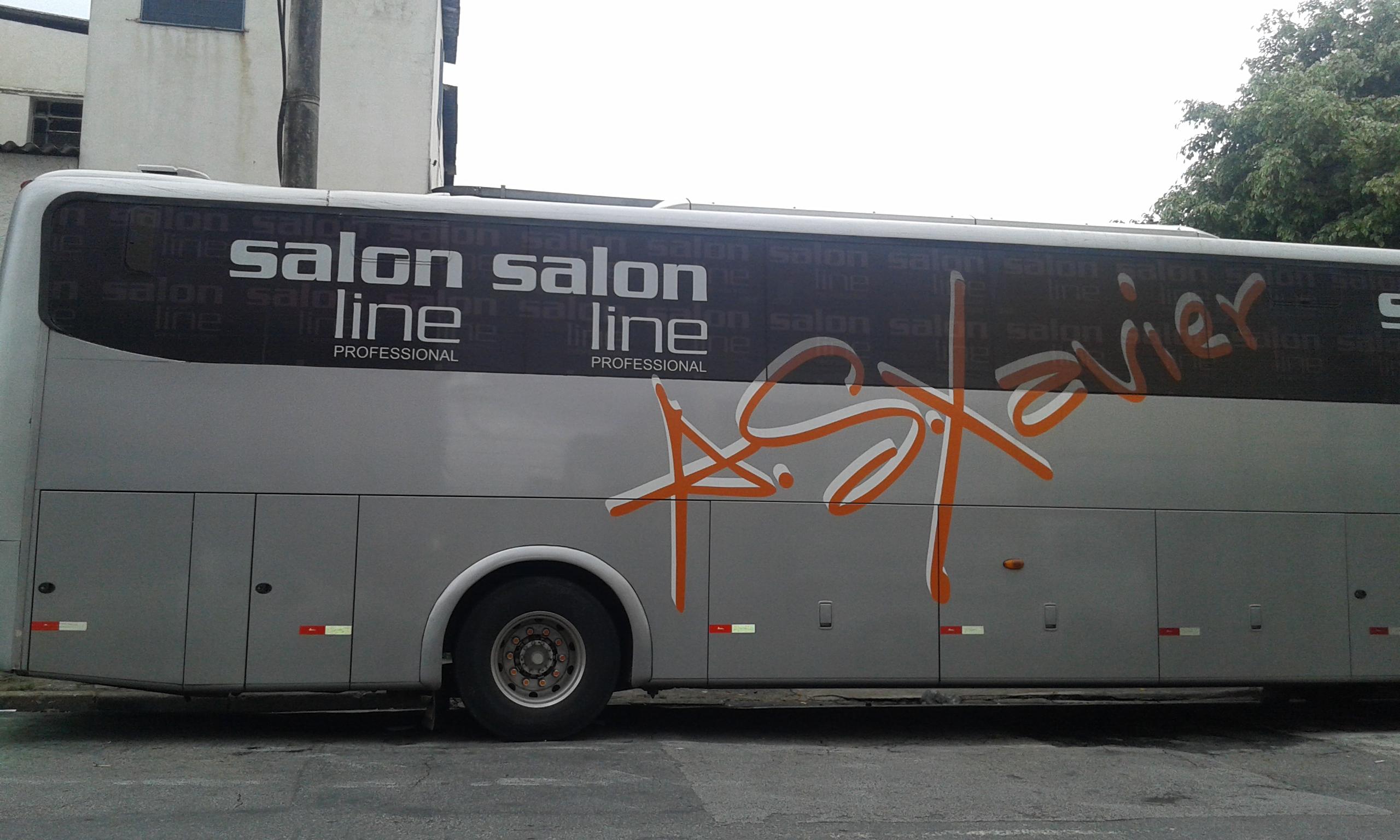 Perfurado Vidro ônibus