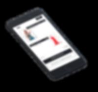 Mockup tienda online carrito mobile