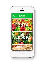 Diseño de aplicación móvil pagina tienda