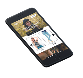 Mockup tienda online home mobile
