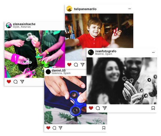 Capturas instagram fidget spinner