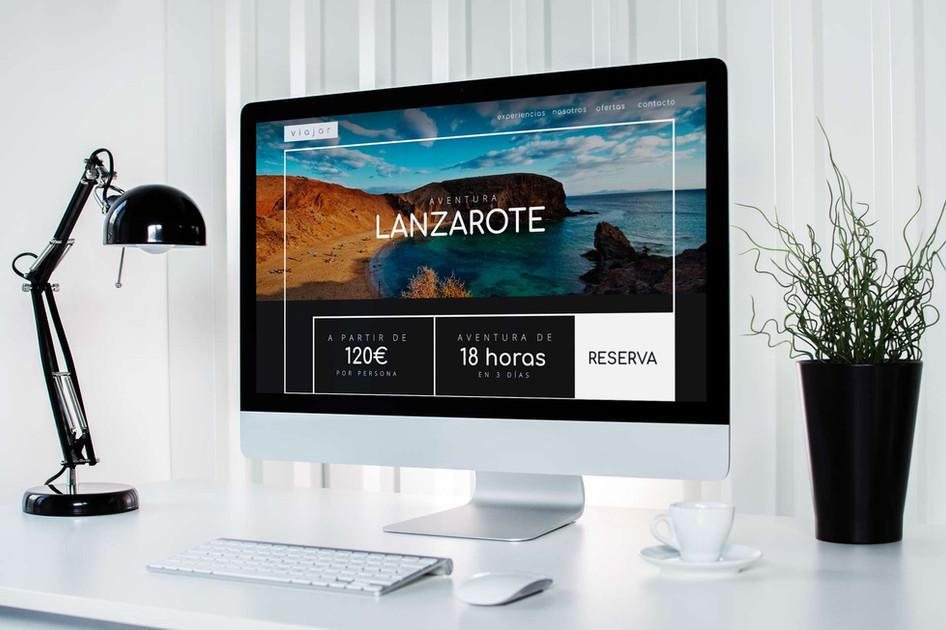 Mockup - iMac página de reservas