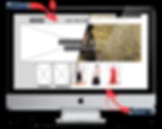 Mockup tienda online wireframe desktop