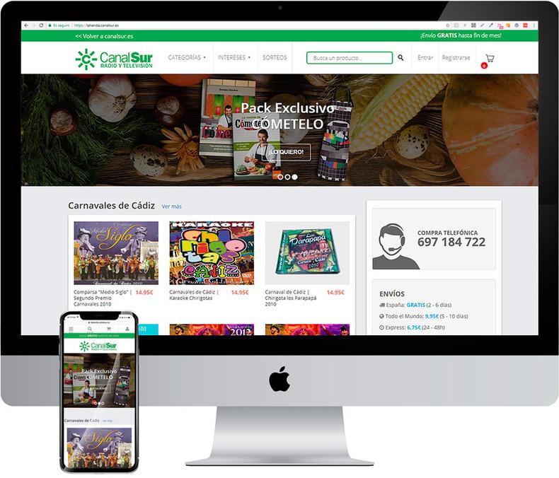 Tienda online responsive Canal Sur