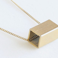 Golden Rectangle Necklace