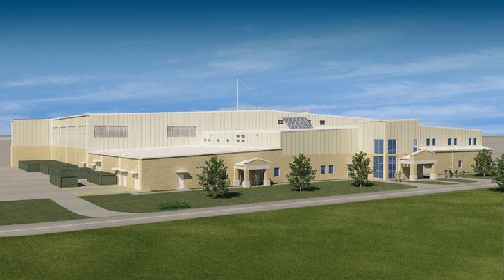 SOF Rotary Hangar - Arch Rendering