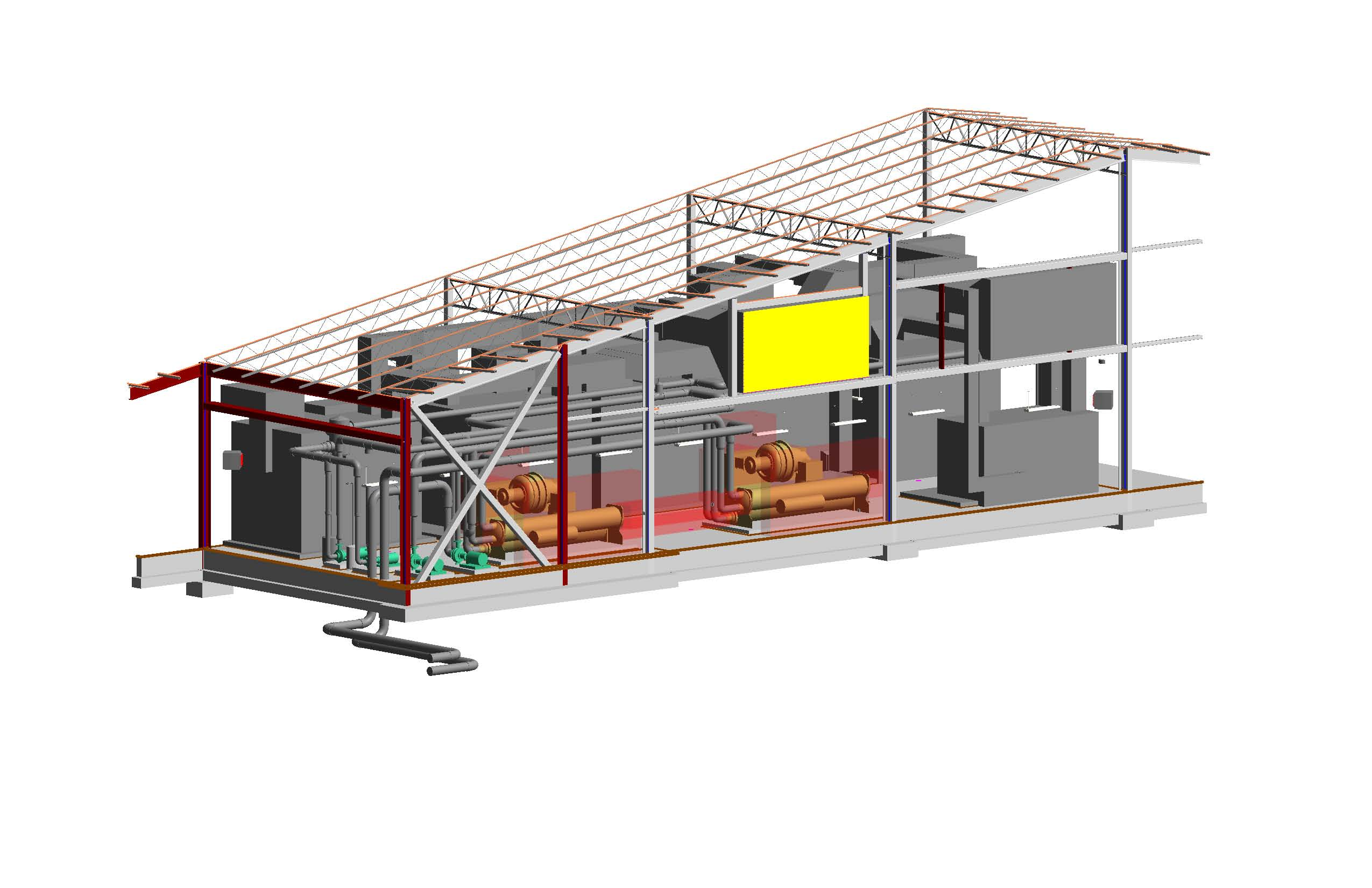 REVIT - Maneuver Battle Lab - Mechanical Room