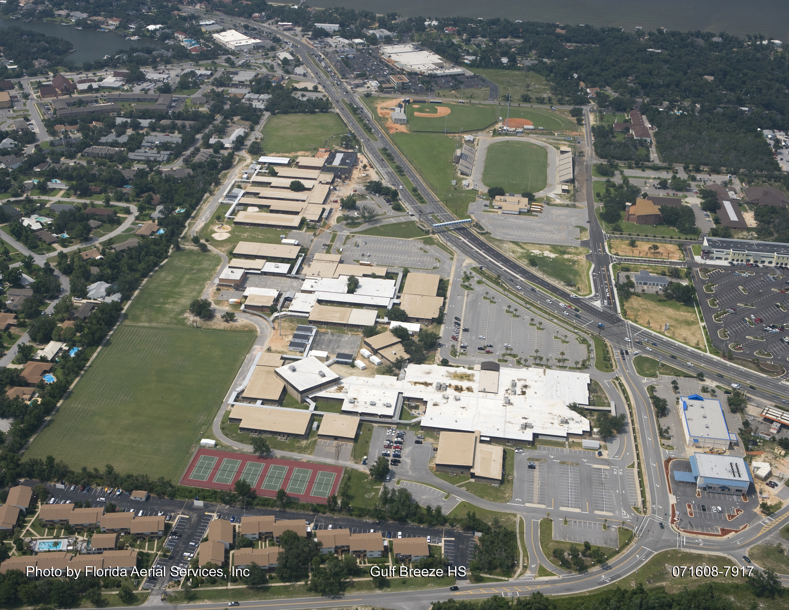 Gulf Breeze High School Aerial