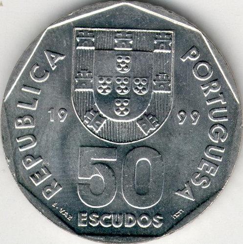 Португалия. 50 эскудо 1999 год. Парусник.