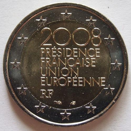 Франция. 2 евро 2008 год. Председательство / Президенство в ЕС.