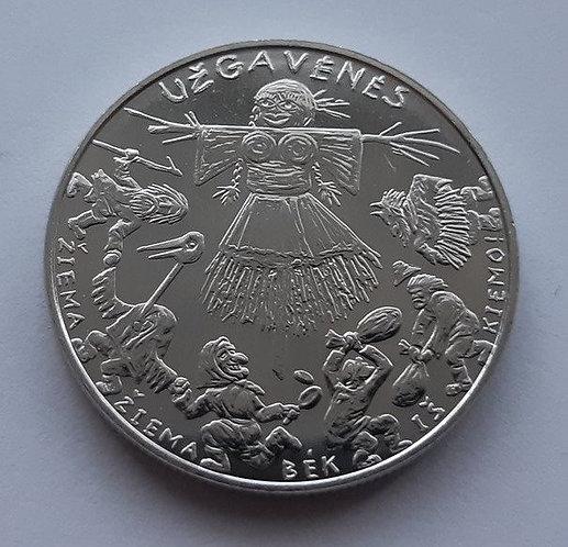 Литва, 1.5 (полтора) евро 2019 г. Масленица, UNC.