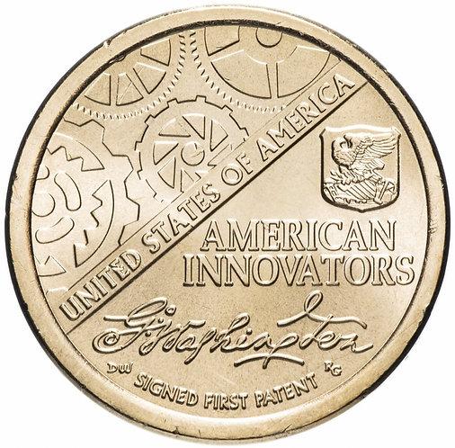 """США 1 доллар 2018 год. Серия монет""""Американские инновации"""". Первый патент АЦ."""