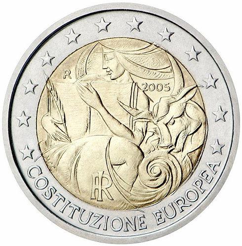 Италия. 2 евро 2005 год. 1-ая годовщина принятия конституции ЕС.