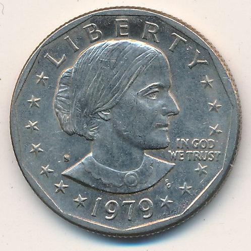 США 1 доллар 1979 г. Сьюзен Энтони. Сакагавея.