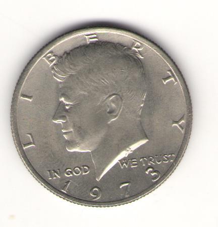 США 50 центов, пол доллара (HALF DOLLAR) 1973 г. Кеннеди.