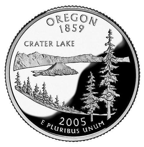 США 25 центов Квотер 2005 г. Орегон OREGON Штаты и Территории.