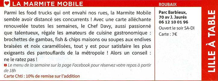 Article La Marmite Mobile