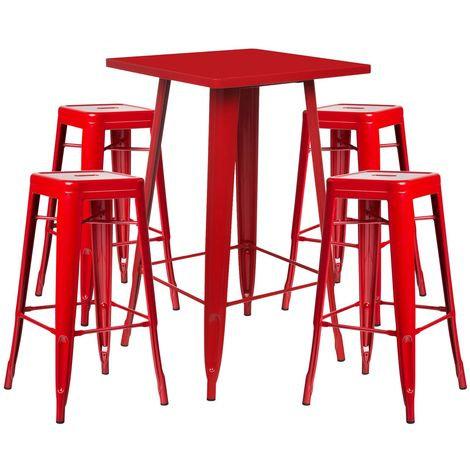 Table haute + 4 tabourets