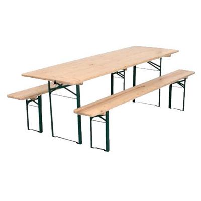 Table foraine avec 2 bancs
