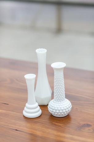 Milkglass Bud Vases - $0.50 - $1