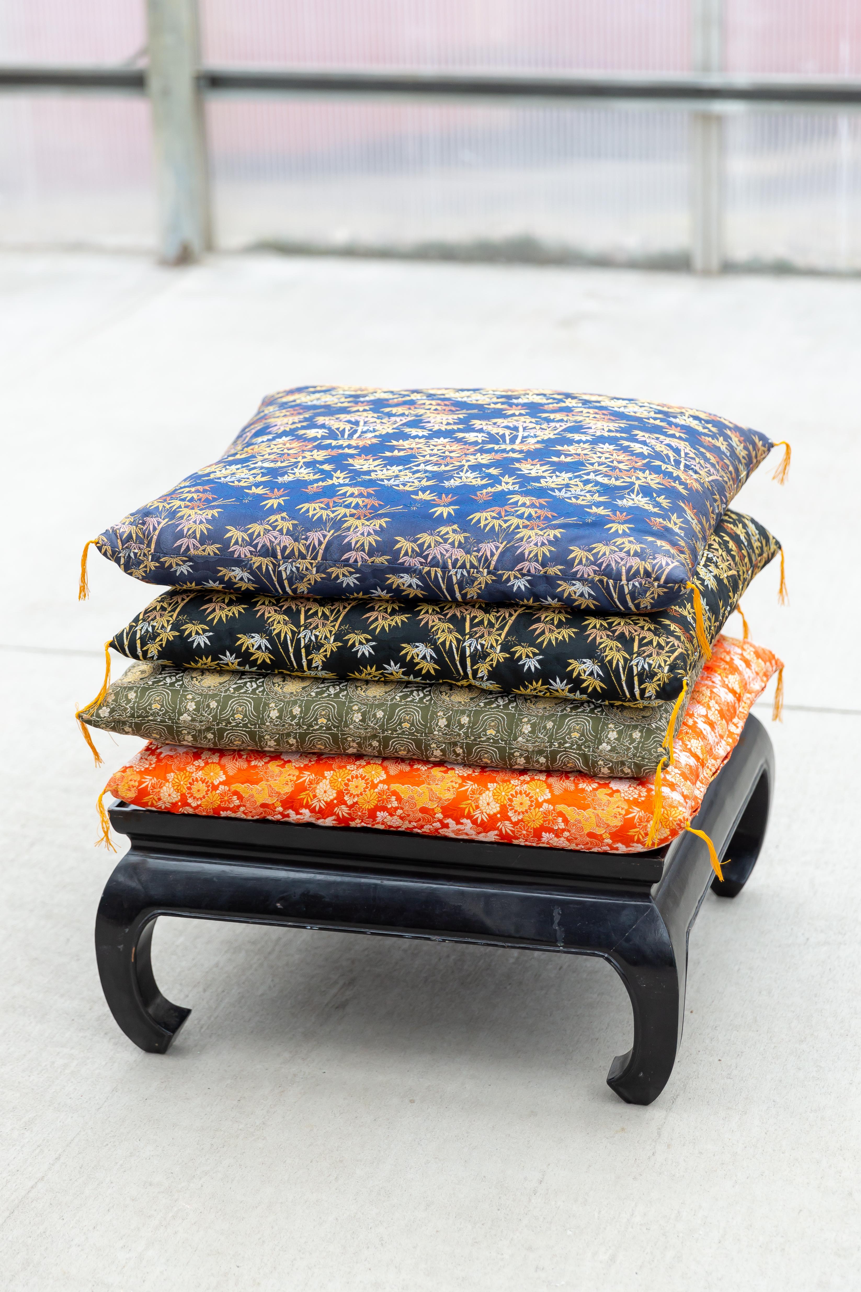Floor Pillows ($8) + Tea Table ($12)