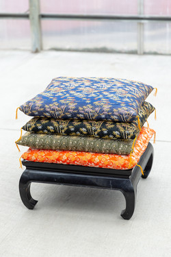 Floor Pillows ($8) + Tea Table ($12)