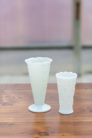 Milk Glass Vase - $1 - $1.50
