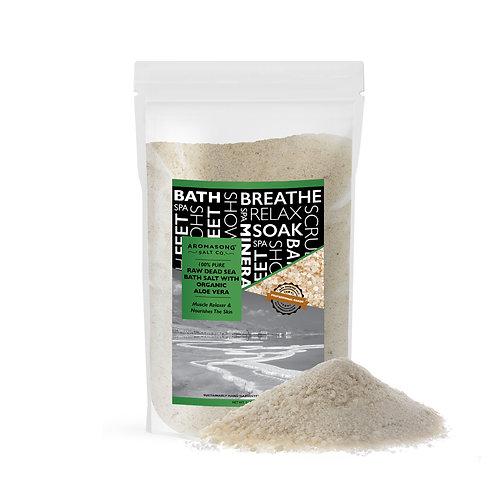 5 lbs Raw DEAD SEA SALT with ORGANIC ALOE VERA, not cleaned,