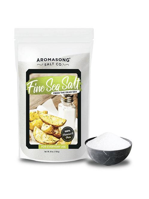 Aromasong Organic Sea Salt, - Fine Grain ( Table Salt ),Bulk RESEALABLE BAG
