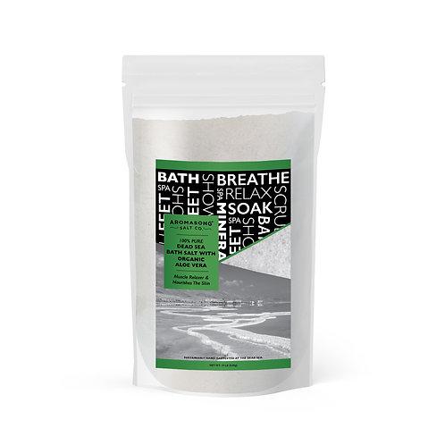 Dead Sea salt With ORGANIC ALOE VERA, Spa bath salts, 19 Lbs Fine Grain