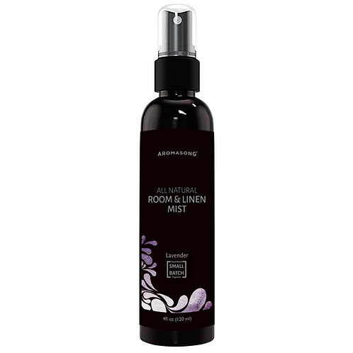 Aromasong Lavender Linen and Room Spray, Natural Aromatic Mist Made with Pure La