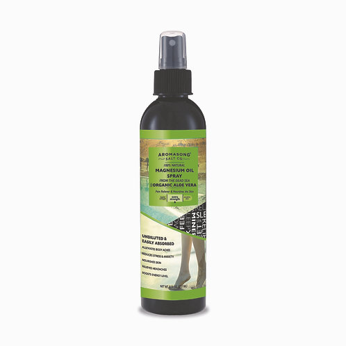 Ultra Pure Magnesium Oil Spray with ALOE VERA 8 OZ, Fast-Acting Joint Pain