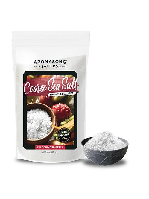 Aromasong Organic Sea Salt, - Coarse Grain, Large Bulk RESEALABLE Bag