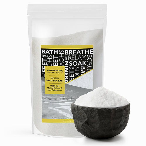 Dead Sea salt, Spa bath salts,  Fine Grain Large bulk resealable pack,