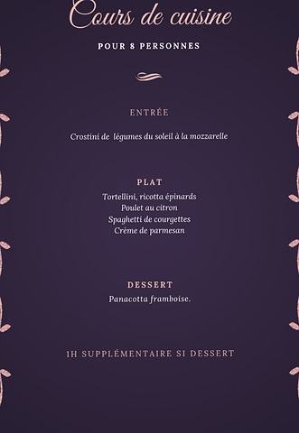 Exemple de menu réalisable