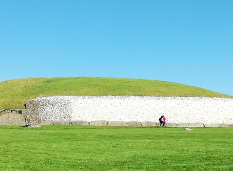 Chambers at Large in Newgrange and Knowth Neolithic Tombs, County Meath, Ireland.