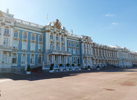 Chambers at Large in the Palaces of St Petersburg, Russia.