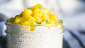 Pudding de graines de chia à la mangue